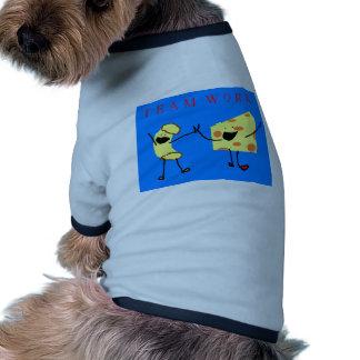 camisa del perro del trabajo del equipo ropa de mascota