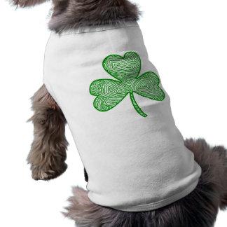 Camisa del perro del trébol camisas de mascota