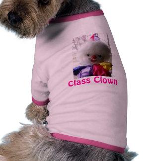 Camisa del perro - payaso de clase camisetas mascota