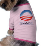 Camisa del perro Re-Elect-Obama-2012 Camisa De Perro
