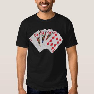 Camisa del póker de la escalera real de los