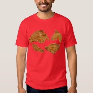 camisa del pollo frito