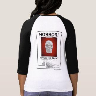 ¡Camisa del poster del horror del cráneo!