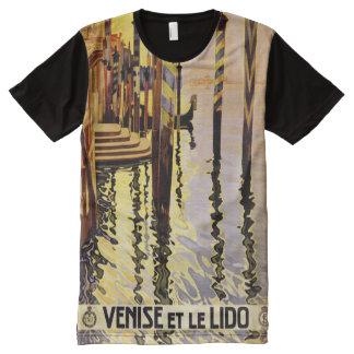 Camisa del poster del viaje de Venecia Italia del