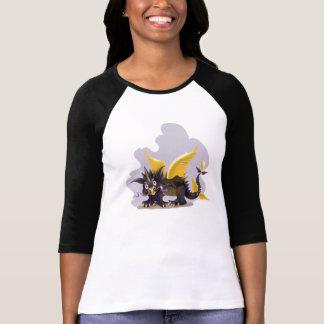 Camisa   del raglán de las señoras con el pict