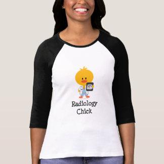 Camisa del raglán del polluelo de la radiología