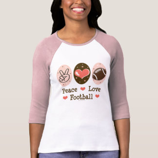 Camisa del raglán del rosa del fútbol del amor de