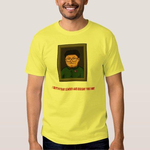 Camisa del retrato de Kim Jong Il