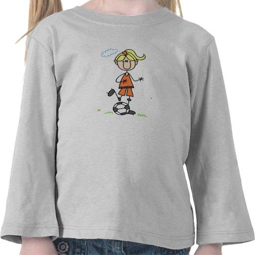 Camisa del retroceso del fútbol de los chicas