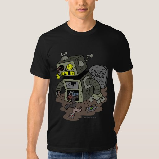 Camisa del robot del zombi