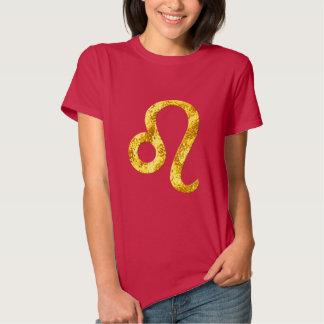 Camisa del rojo del oro de Leo