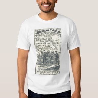 Camisa del siglo XIX de la bicicleta del vintage