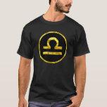 Camisa del símbolo del círculo del negro del oro
