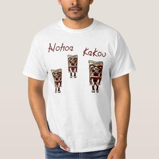 camisa del tiki del kakou de la hawaiana