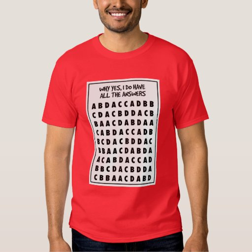 Camisa del tramposo de la opción múltiple
