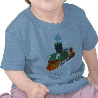 camisa del tren del bebé