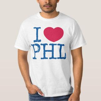 Camisa del valor de la camisa de I <3 PHL