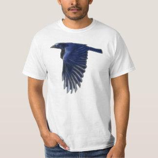 Camisa del valor del arte de la fauna del cuervo