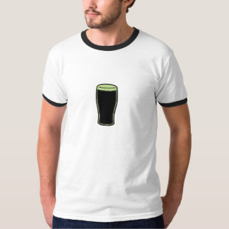 Camisa del vidrio de cerveza del verde de la pinta