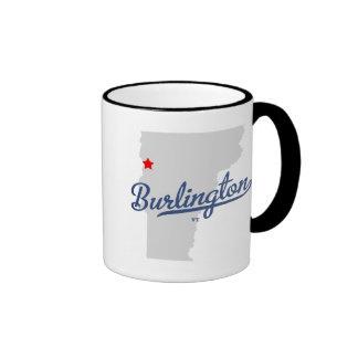 Camisa del VT de Burlington Vermont Tazas De Café