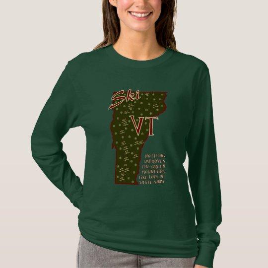Camisa del VT del esquí
