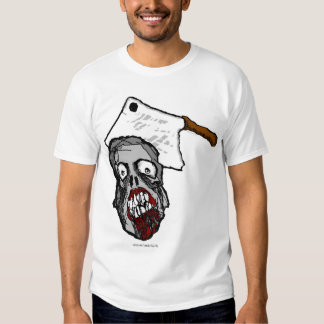 Camisa del zombi de la cuchilla de carne