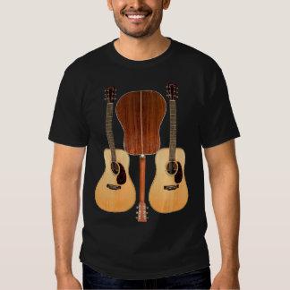 Camisa delantera y trasera de la guitarra acústica