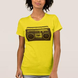 Camisa divertida de Boombox del arenador estéreo r