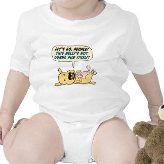 Camisa divertida de la frotación del Belly de las