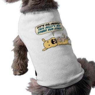 Camisa divertida de la frotación del Belly de las  Ropa De Perros