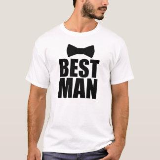Camisa divertida de la pajarita del mejor hombre