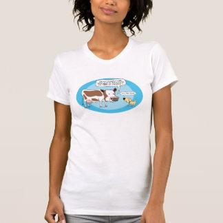Camisa divertida de la vaca y del perro