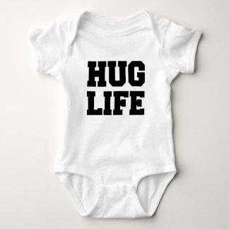 Camisa divertida del bebé de la vida del abrazo