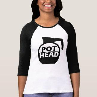 Camisa divertida del cafeína de la cabeza del pote