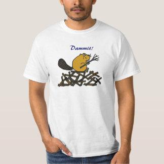 Camisa divertida del castor AA Dammit