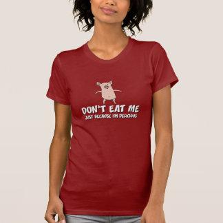 Camisa divertida del cerdo: No me coma