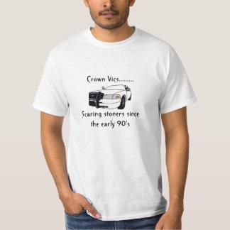 Camisa divertida del coche policía