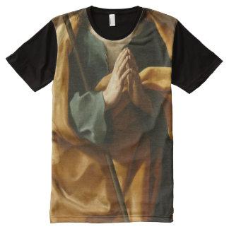 Camisa divertida del gangsta del arte religioso de