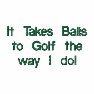Camisa divertida del golf, bordada polo bordado
