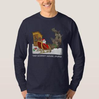 Camisa divertida del navidad de la casa de Schmidt