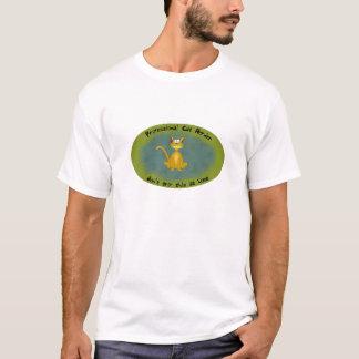Camisa divertida del pastor profesional del gato