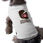Camisa divertida del perro de la patrulla de la ar playera sin mangas para perro