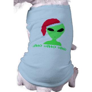 Camisa divertida del perro de Santa del ufHO del u Camisa De Perro