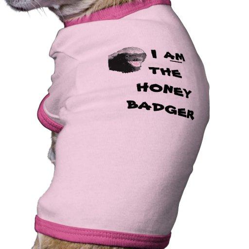 Camisa divertida del perro del tejón de miel camiseta con mangas para perro