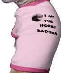 Camisa divertida del perro del tejón de miel ropa de mascota