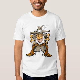 Camisa divertida del vaquero