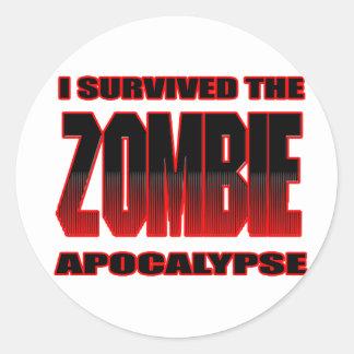 camisa divertida del zombi de los zombis de los pegatina redonda
