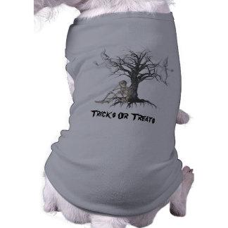 Camisa divertida esquelética del perro de Hallowee Playera Sin Mangas Para Perro