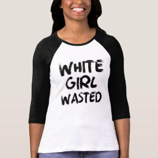 Camisa divertida perdida chica blanco