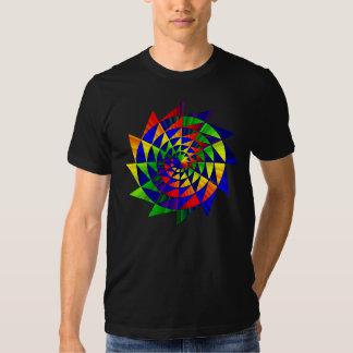Camisa doble del arco iris (diseño en un lado)